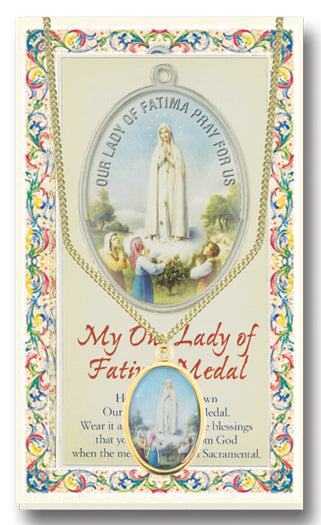 Our Lady of Fatima Medal With Prayer Card