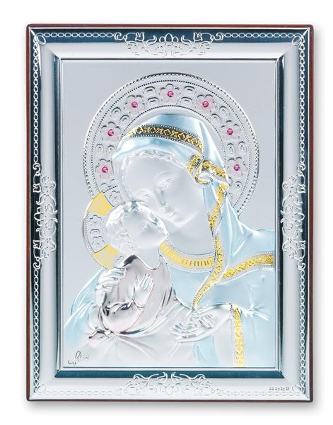 Madonna and Child Sterling Silver Plaque