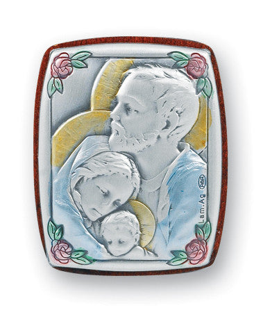 Holy Family Sterling Silver Plaque