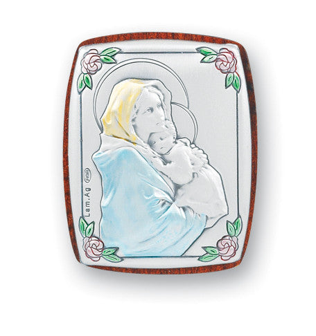 Madonna of the Street Sterling Silver Plaque