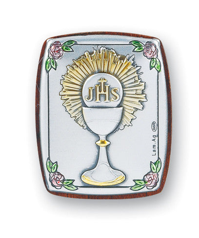 Communion Chalice Sterling Silver Plaque