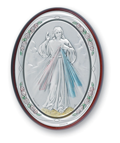 Divine Mercy Sterling Silver Plaque