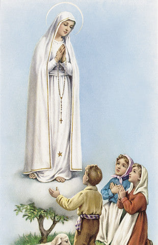 Image of OUR LADY OF FATIMA HOLY CARD