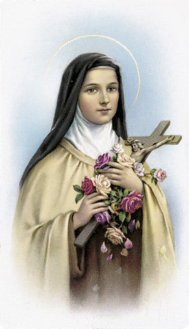 Image of ST. THERESA HOLY CARD