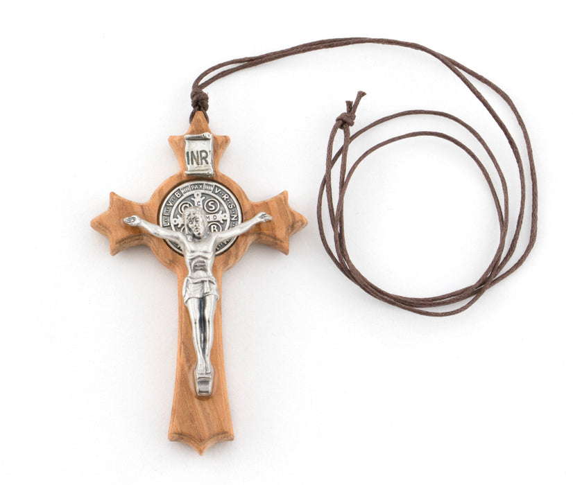 St. Benedict Olive Wood Cross 3""