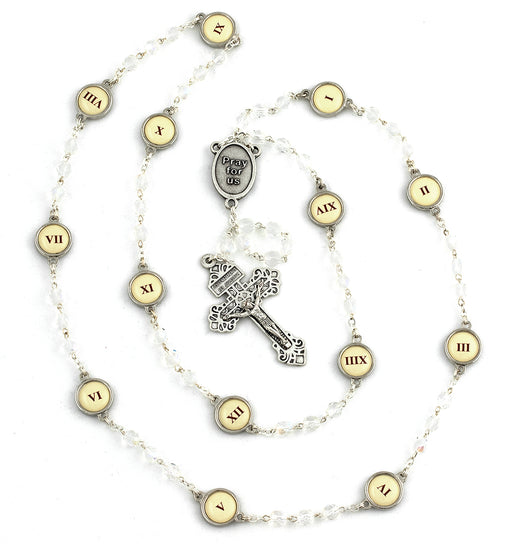Crystal Stations Of The Cross Rosary -Out of Stock 03/31/20