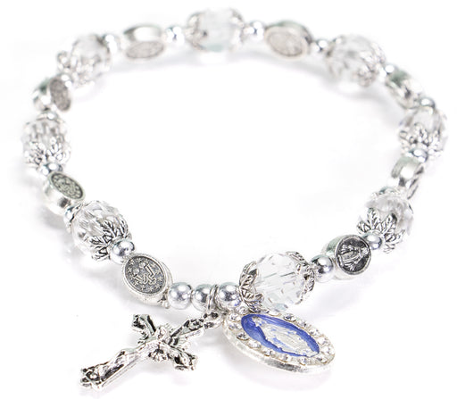 Our Lady of Grace Crystal Rosary Bracelet