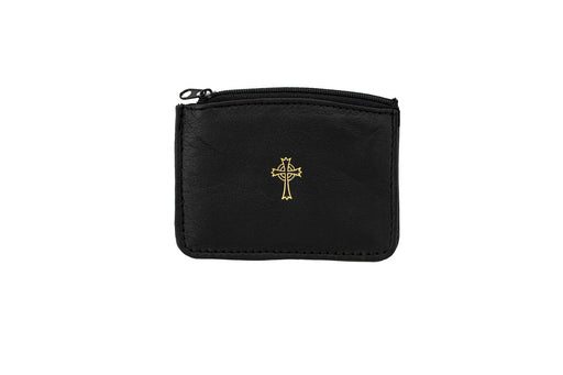 Brass Cross with Sheepskin Case Bundle