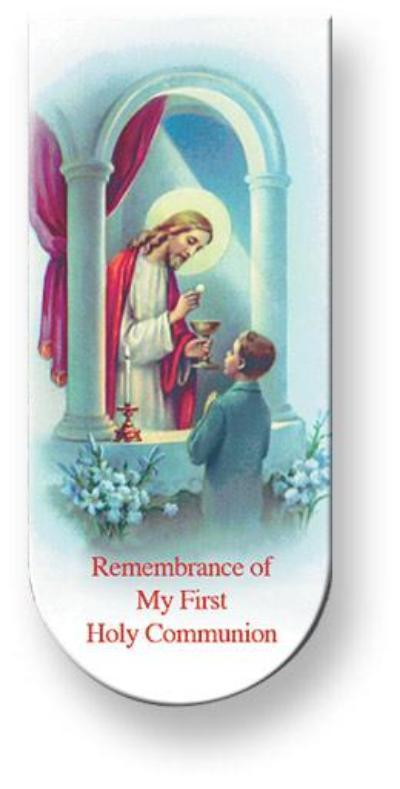 First Communion Boy Bookmark/Magnet (10 pack)
