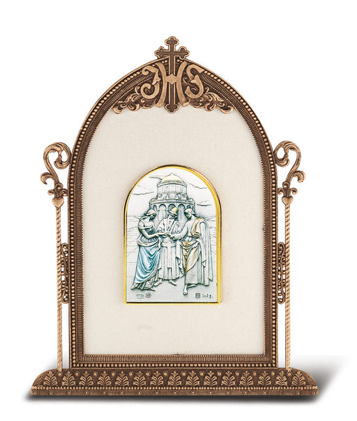 Marriage Plaque - Antique Bronze Gold Plated Metal Frame