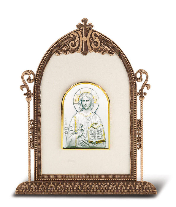 Christ The Teacher - Antique Bronze Gold Plated Metal Frame