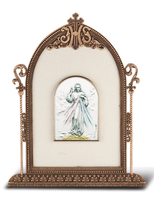 Divine Mercy - Antique Bronze Gold Plated Metal Frame