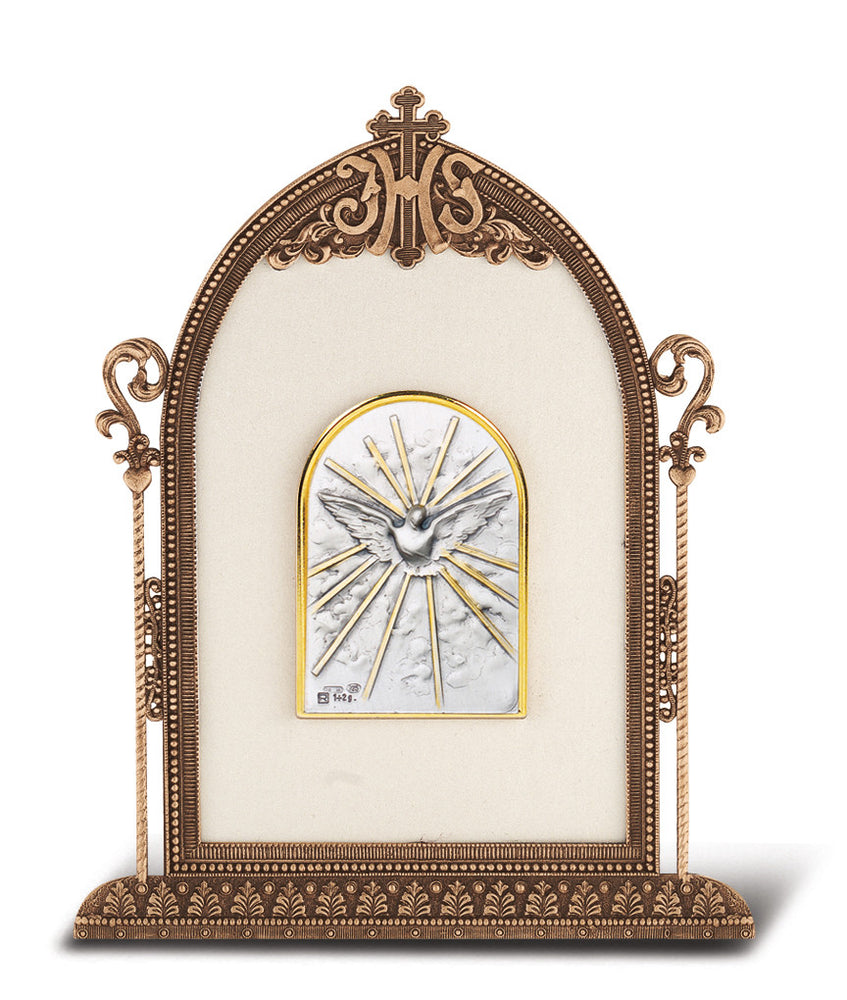 Holy Spirit - Antique Bronze Gold Plated Metal Frame
