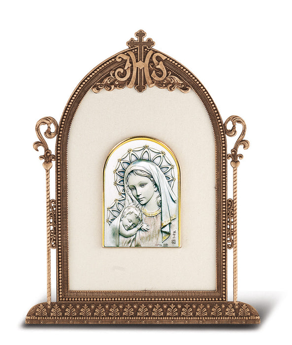 Madonna and Child - Antique Bronze Gold Plated Metal Frame