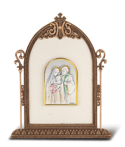Holy Family - Antique Bronze Gold Plated Metal Frame