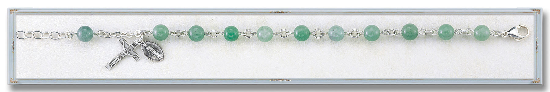 genuine_adventurine_round_sterling_bracelet