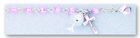 Image of 4MM PINK COMMUNION BRACELET