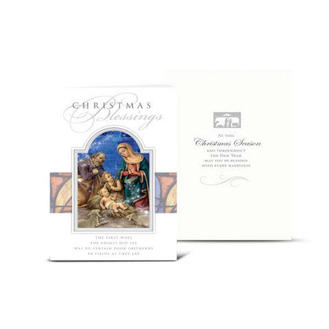CHRISTMAS CARDS - Christmas Nativity with Drummer Boy Card