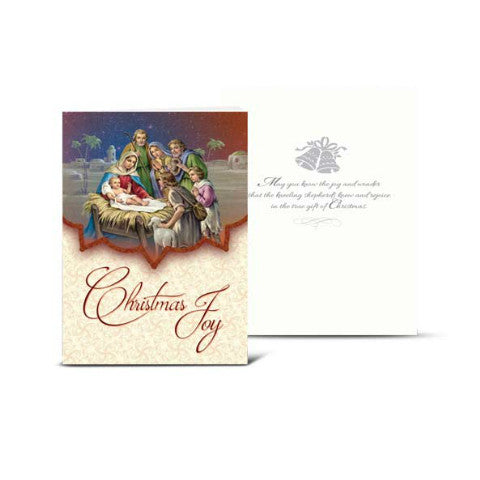 CHRISTMAS CARDS - Bethlehem Christmas Card with Drummer Boy & Shepherd Card