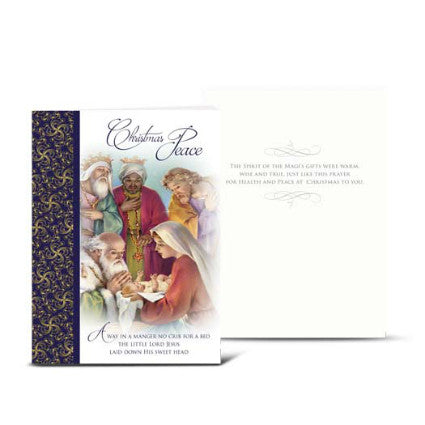 HOLY FAMILY AND MAGI CHRISTMAS CARD