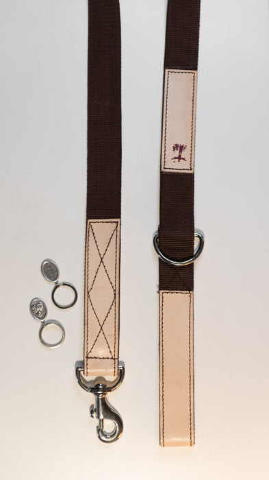 St. Francis Leather Dog Leash & Collar - LIMITED EDITION