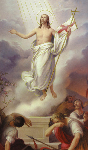 Image of RISEN CHRIST HOLY CARD