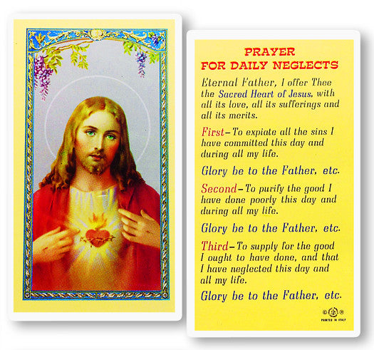 Image of PRAYER FOR DAILY NEGLECTS HOLY