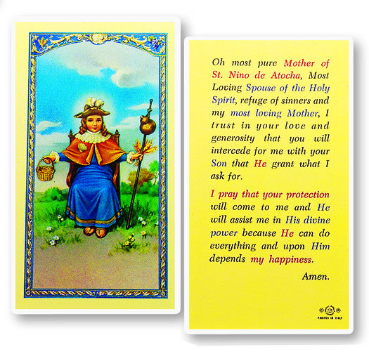 Image of ST NINO OF ATOCHA HOLY CARD