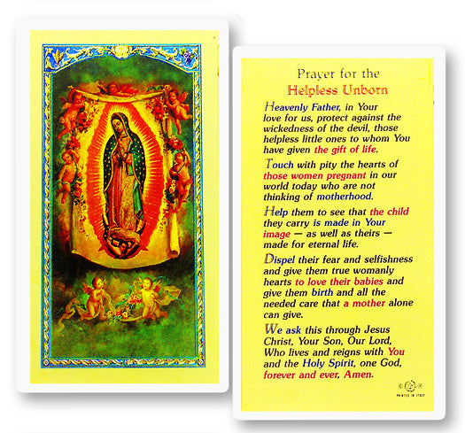 Image of PRAYER FOR THE HELPLESS UNBORN