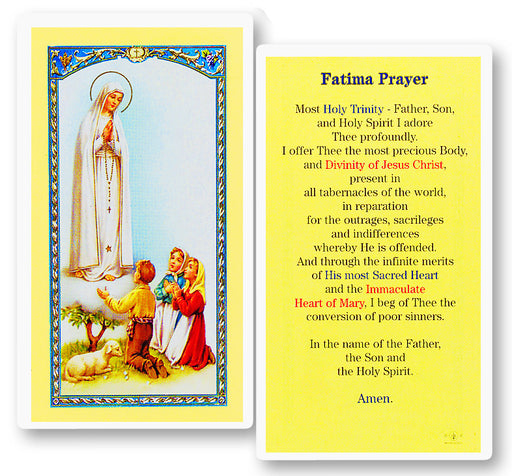 Image of PRAYER TO THE O.L. OF FATIMA