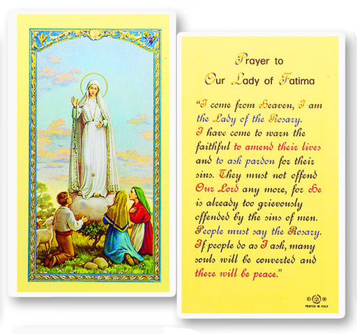 Image of PRAYER TO OUR LADY OF FATIMA