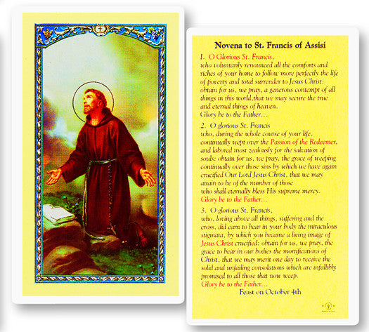 novena_to_st_francis_holy_card