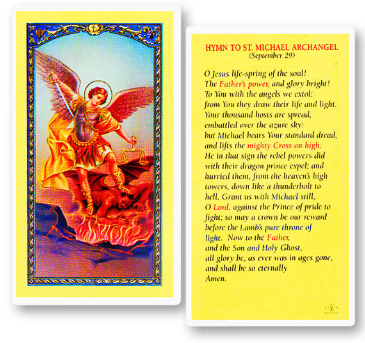 hymn_to_st_michael_holy_card