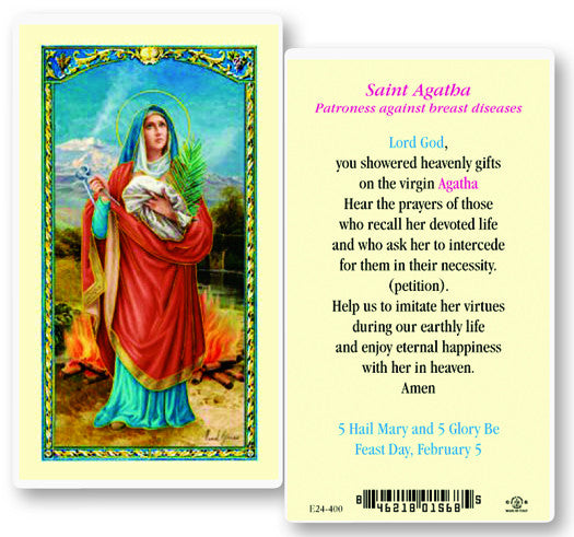 Image of ST AGATHA W/PRAYER