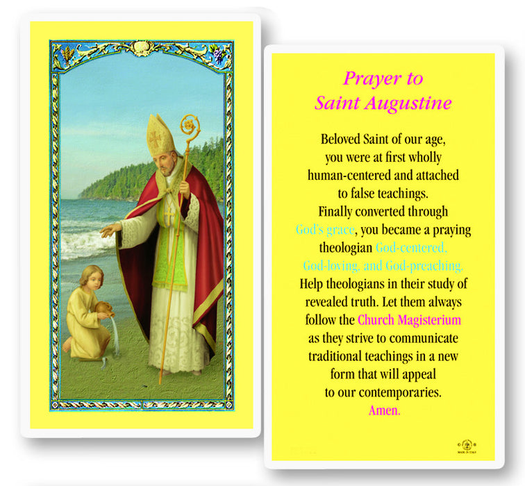 Image of ST AUGUSTINE LAMINATED HOLY