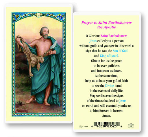 Image of ST BARTHOLOMEW HOLY CARD