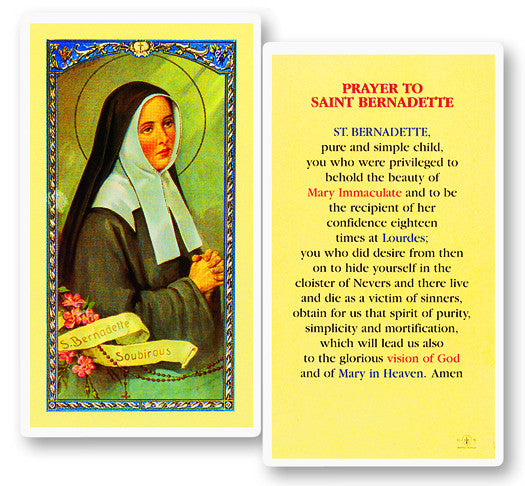 Image of PRAYER TO ST BERNADETTE