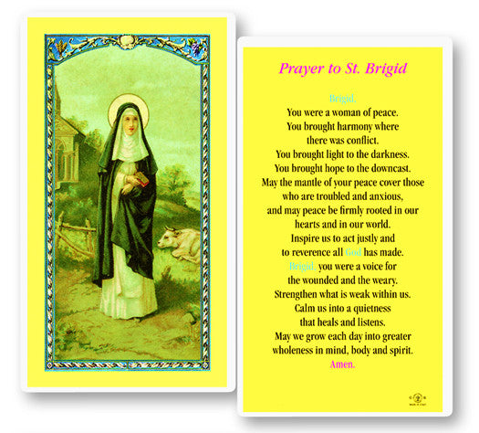 Image of ST BRIGID LAMINATED HOLY CARD