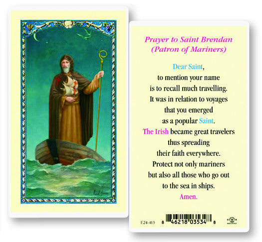 Image of ST BRENDAN HOLY CARD