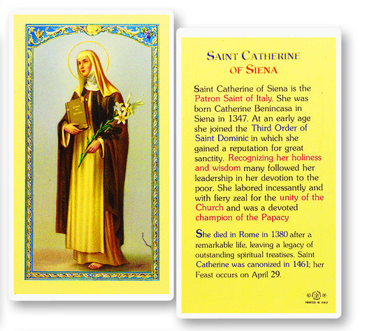 Image of ST CATHERINE OF SIENA BIOGRAPHY