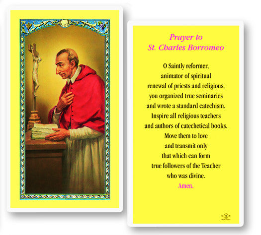 Image of ST CHARLES LAMINATED HOLY CARD