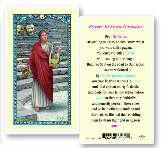 Image of ST GENESIUS HOLY CARD