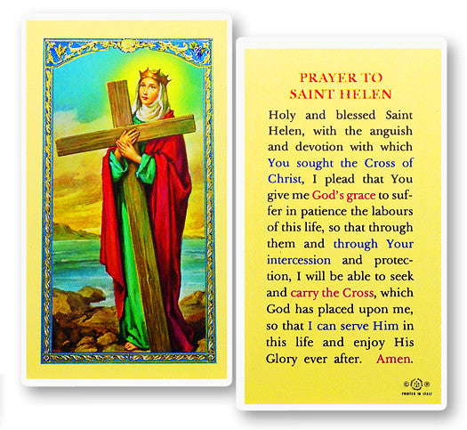Prayer To St Helen Holy Card Catholic Online Shopping