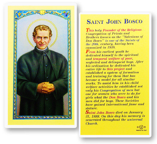 "an introduction to the life of john bosco This tan books edition of the ""st john bosco"" fa forbes, features the complete text of the title, along with a supplemental reading section entitled ""a brief life of christ""."