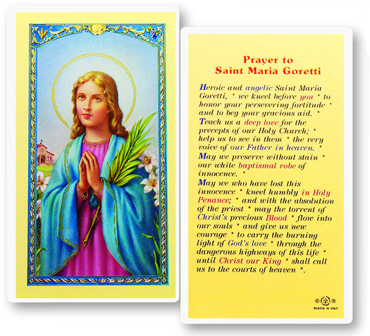 Image of PRAYER TO ST. MARIA GORETTI