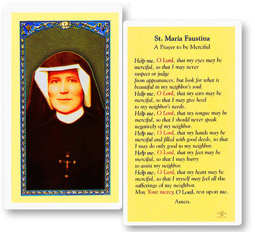 Image of PRAYER TO ST MARIA FAUSTINA