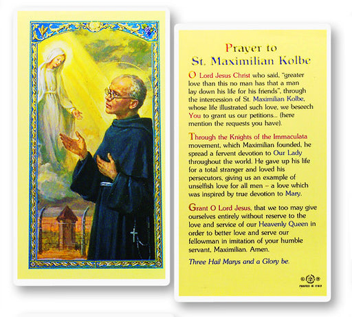 Image of PRAYER TO ST. MAXIMILIAN KOLBE