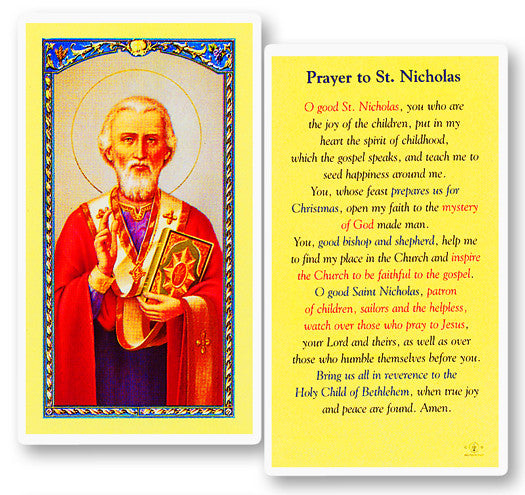 Image of PRAYER TO ST NICHOLAS