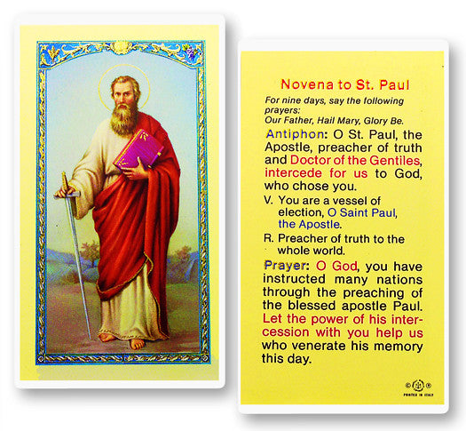Image of ST. PAUL NOVENA PRAYER