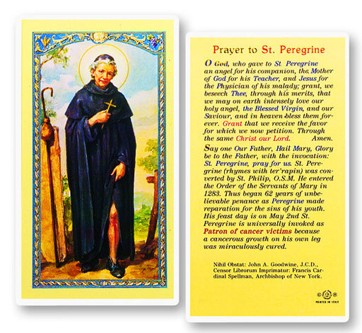 Image of PRAYER TO ST. PEREGRINE HOLY